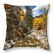 Grizzly Creek Cottonwoods Vertical Throw Pillow