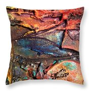 Grooved Lines Throw Pillow
