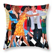 Groovin High In Nyc Throw Pillow