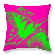 Groovy Butterfly Throw Pillow