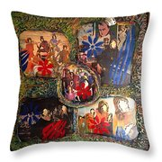 Groovy Celebrations By Alfredo Garcia Throw Pillow