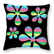 Groovy Flowers 4 Throw Pillow