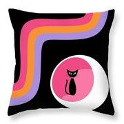 Groovy Stripes 3 Throw Pillow