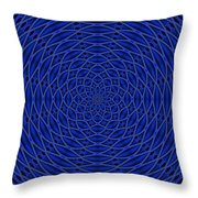 Mandala Blue Marvel Throw Pillow