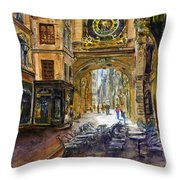 Gros Horlaoge Rouen France Throw Pillow