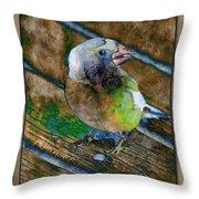 Grosbeak Throw Pillow