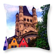 Gross St. Martin In Cologne Germany Throw Pillow