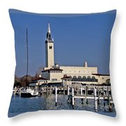 Grosse Point Yacht Club Throw Pillow