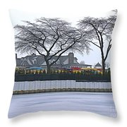 Grosse Pointe Pier Park Throw Pillow