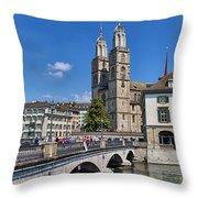Grossmuenster Zurich Throw Pillow