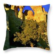 Grosvenor Arch At Sunset Throw Pillow
