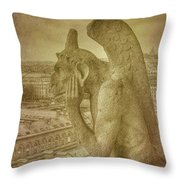 Grotesque From Notre Dame Throw Pillow