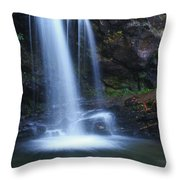 Grotto Falls Great Smoky Mountains Throw Pillow