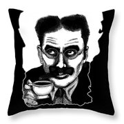 Groucho In The Morning Throw Pillow