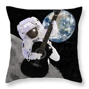 Ground Control To Major Tom Throw Pillow by Nikki Marie Smith