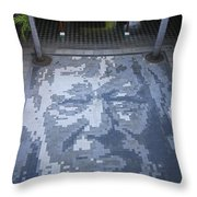 ground mosaic in the cultural center of Granada Nicaragua Throw Pillow