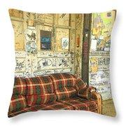 Front Porch - Ground Zero Blues Club Clarksdale Ms Throw Pillow