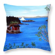 Grounded Iceberg Throw Pillow
