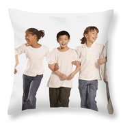 Group Of Children Throw Pillow by Don Hammond