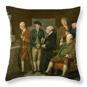 Group Of Connoisseurs Throw Pillow