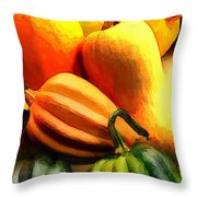 Group Of Gourds Throw Pillow