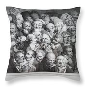 Group Of Thirty-five Heads Throw Pillow