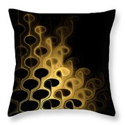 Grouped In Gold Throw Pillow