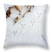 Grouse Tracks Throw Pillow
