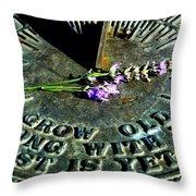 Grow Old Throw Pillow