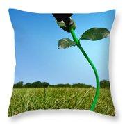 Growing Green Energy Throw Pillow