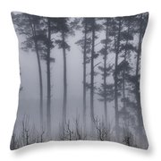 Growing In The Fog Throw Pillow