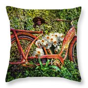Growing In The Garden Throw Pillow