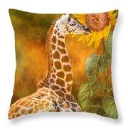 Growing Tall - Giraffe Throw Pillow