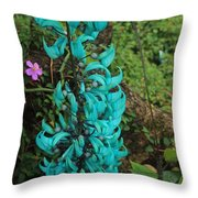 Growing Turquoise Throw Pillow