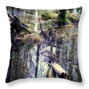 Nature Is Growing Up And Sinking Down  Throw Pillow