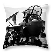 Grumman Ea-6b Prowler B-w Throw Pillow