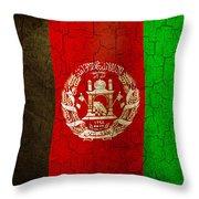 Grunge Afghanistan Flag Throw Pillow