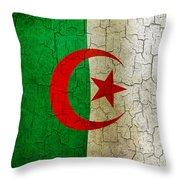 Grunge Algeria Flag Throw Pillow