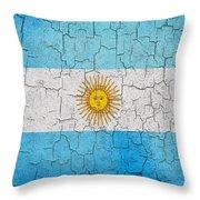 Grunge Argentina Flag Throw Pillow