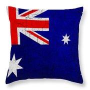 Grunge Australia Flag Throw Pillow