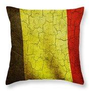 Grunge Belgium Flag Throw Pillow