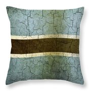 Grunge Botswana Flag Throw Pillow