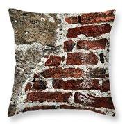 Grunge Brick Wall Throw Pillow