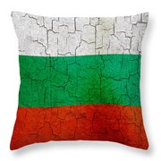 Grunge Bulgaria Flag Throw Pillow