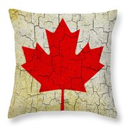 Grunge Canada Flag Throw Pillow