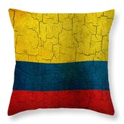Grunge Colombia Flag Throw Pillow