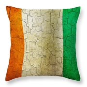 Grunge Cote D'voire Flag Throw Pillow