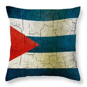 Grunge Cuba Flag Throw Pillow