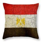 Grunge Egypt Flag Throw Pillow