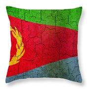 Grunge Eritrea Flag Throw Pillow